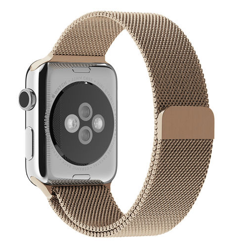Gold Milanese Loop Stainless Steel Band for Apple Watch 42 / 44mm